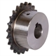 06B1 sprockets with hub, teeth induction hardened, ready-to-install