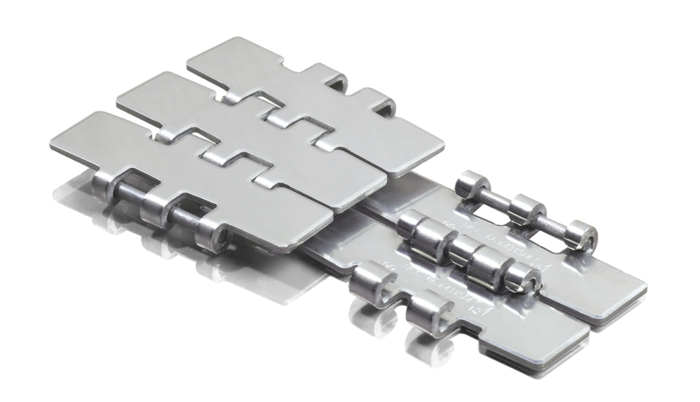 Bottle conveyor chains and components