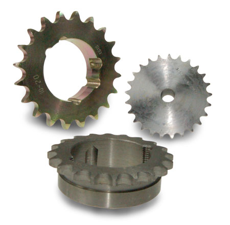 Sprockets and chain tensioners