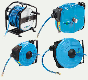 Air hoses and hose reels